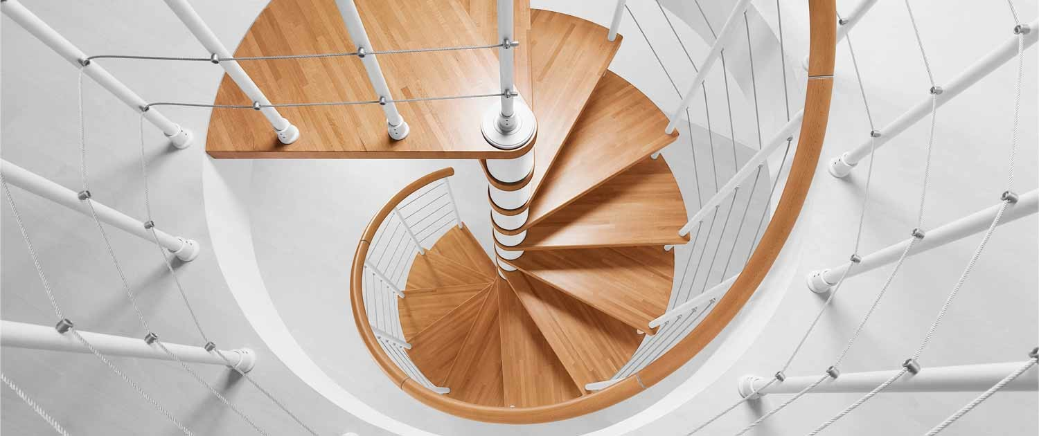 Kit staircases for Half spiral staircase
