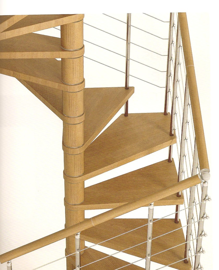 Genius 050 060 spiral staircase for Spiral staircase square