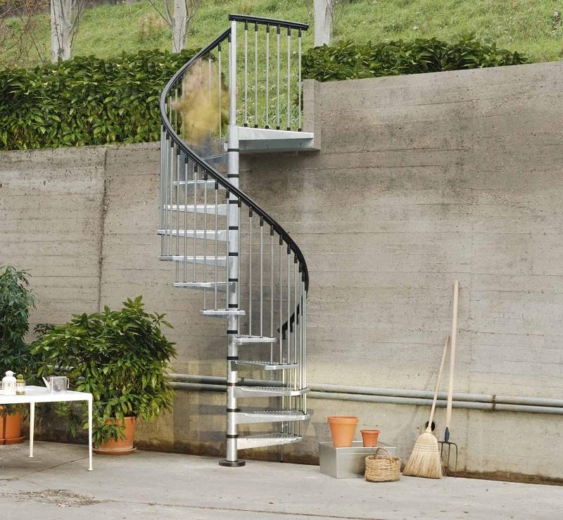 Civik Zinc Spiral Staircase